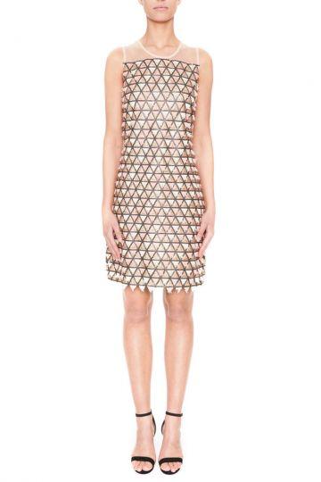 Vorderansicht von Ana Alcazar Black Label A-Linien Kleid Square  angezogen an Model