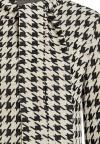 Rear View of Houndstooth Shirt Beirel  worn by model