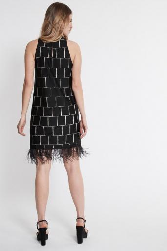 Ana Alcazar Feathers Dress Samanys