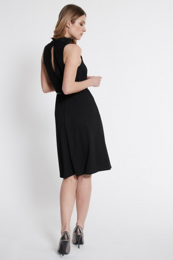 Ana Alcazar Mix Dress Sanoba Black