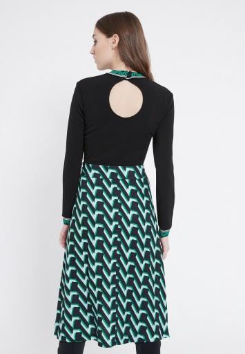 Ana Alcazar Mix Dress Vabury Green