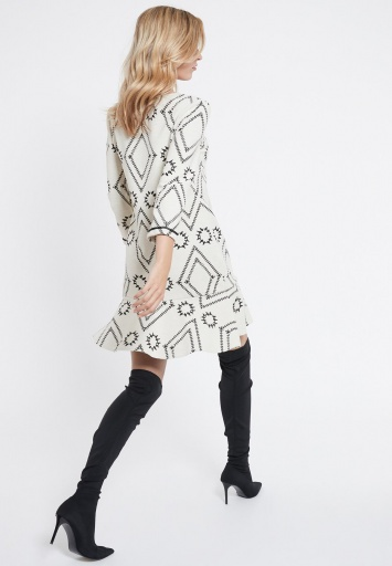 Ana Alcazar Volant Dress Vafomis White