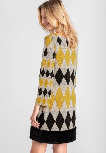 Ana Alcazar Fake Fur Dress Vekine Yellow