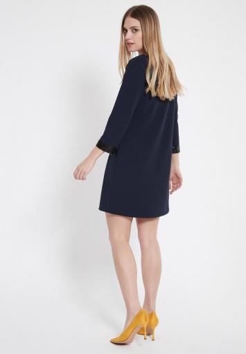Ana Alcazar Sequin Dress Wajani Blue