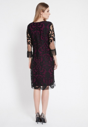 Ana Alcazar Fringe Dress Warase Bourdeaux