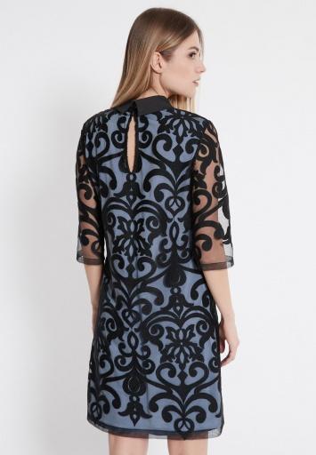 Ana Alcazar Kragen Kleid Warinie Blau