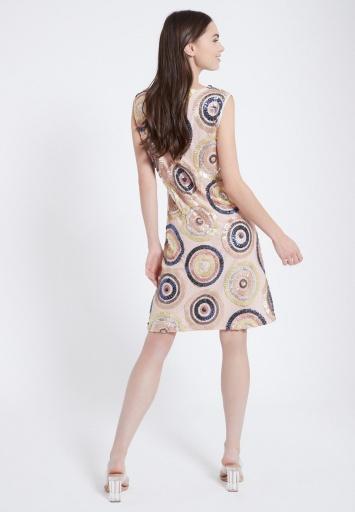 Ana Alcazar Pailletten Kleid Zegy