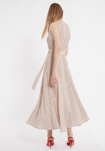 Ana Alcazar Midi Dress Zemy Dark-Beige