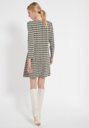 Houndstooth Dress Beipo