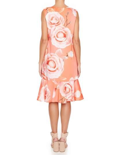 Rückansicht von Ana Alcazar Limited Edition Volantkleid Malia  angezogen an Model