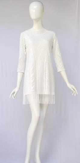 Rückansicht von ana alcazar Tunika Kleid Alvinea  angezogen an Model