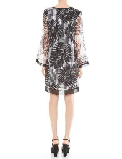 Rückansicht von Ana Alcazar Limited Edition Tunikakleid Matea  angezogen an Model