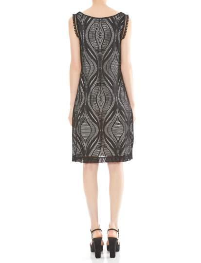 Rückansicht von Ana Alcazar A-Linien Kleid Mulakys  angezogen an Model