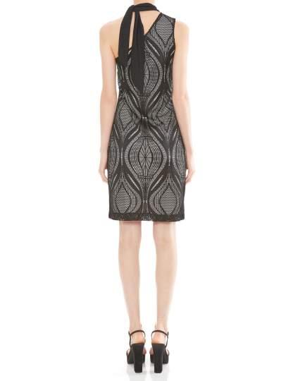 Rückansicht von Ana Alcazar One-Shoulder Kleid Mulena  angezogen an Model