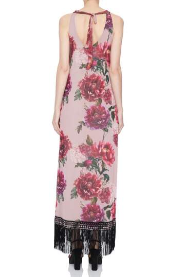 Rear view of Ana Alcazar Maxi Dress Nivanna  worn by model
