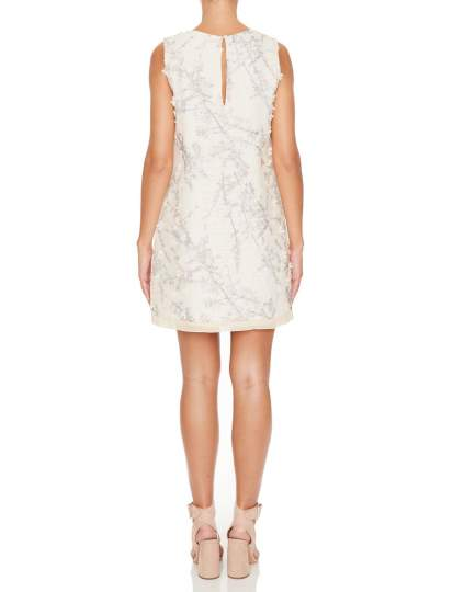 Rückansicht von Ana Alcazar A-Linien Kleid Maaikea  angezogen an Model