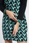 Details of Ana Alcazar A-Shaped Dress Vabume Green