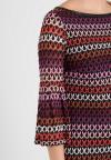 Details of Ana Alcazar Volant Sleeve Dress Plyena Bordeaux