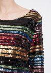 Detailansicht von Ana Alcazar Black Label Pailletten Langarmkleid Rubea