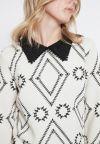Detailansicht von Ana Alcazar Kragen Kleid Vafonte Weiß