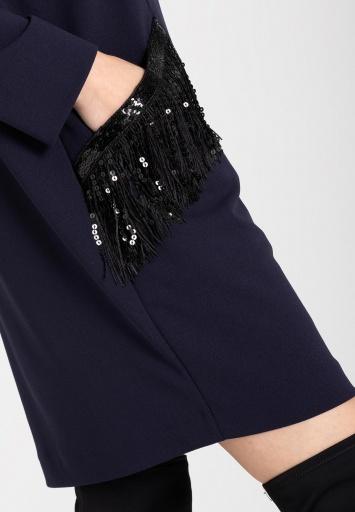 Ana Alcazar Kleid mit Taschen Wafry Blau