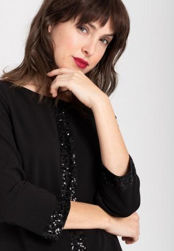 Ana Alcazar Pailletten Kleid Wajana Schwarz