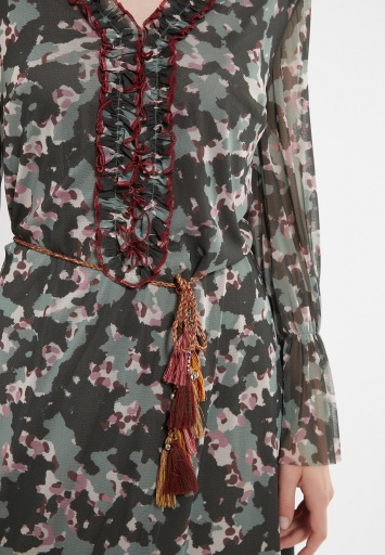 Ana Alcazar Langarm Kleid Zigea
