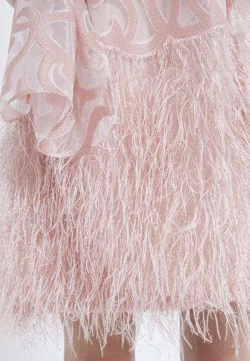 Ana Alcazar Feathers Dress Abora