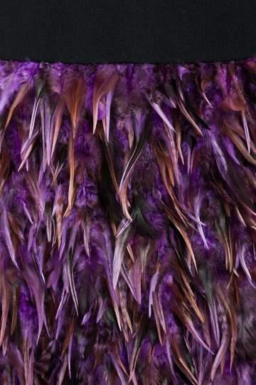 Detailansicht von Ana Alcazar Black Label Federn Cocktailkleid Juvene