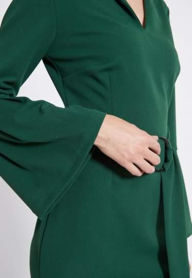 Detailansicht von Ana Alcazar Gürtel Kleid Romys Grün