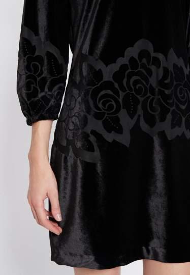 Detailed view of Ana Alcazar Velvet Dress Revita