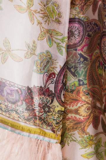 Detailansicht von Ana Alcazar Seidenkleid Federn Madaley