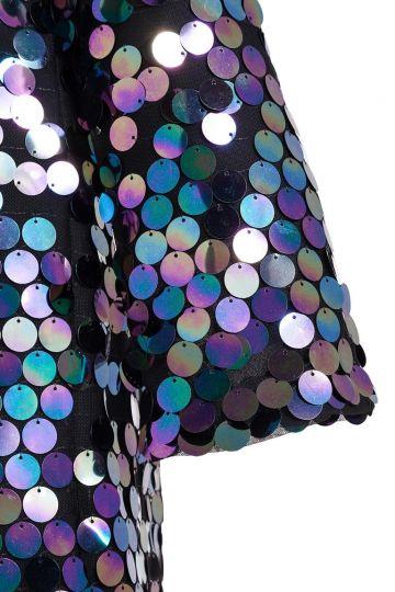 Detailansicht von Ana Alcazar Black Label Pailletten Minikleid Juvendy