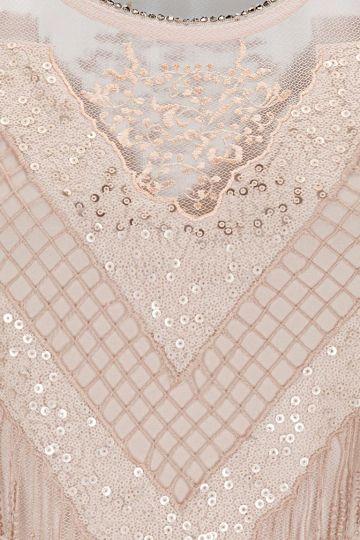 Detailansicht von Ana Alcazar Black Label Paillettenkleid Giorgane
