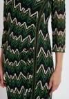 Detailansicht 2 von Ana Alcazar Lurex-Streifen Kleid Photysa Grün