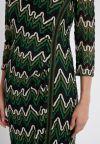 Details 2 of Ana Alcazar Lurex-Stripe Dress Photysa Green