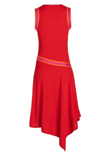 Ana Alcazar Midi Dress Savnea Red