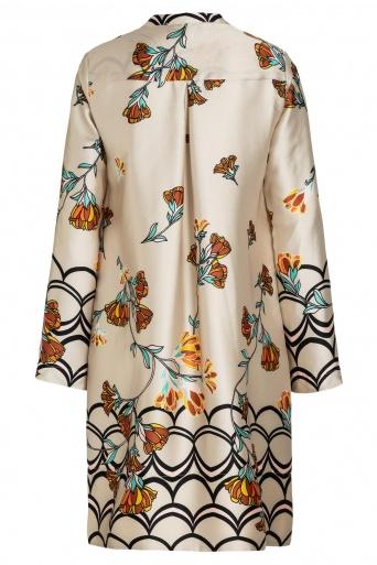 Ana Alcazar Blouse Dress Sefrisa Beige