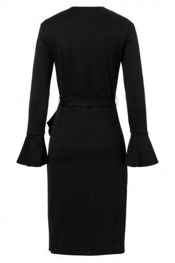 Ana Alcazar Wrap Dress Vafabi Black