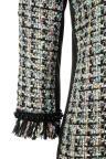 Materie Details van Ana Alcazar Tweed Jurk Oriwa