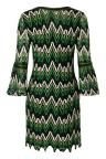 Fabric View of Ana Alcazar Mini Dress Photea Green
