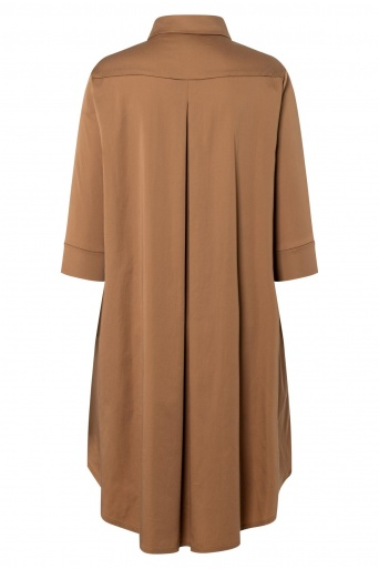 Ana Alcazar Blouse Dress Zepoa Brown
