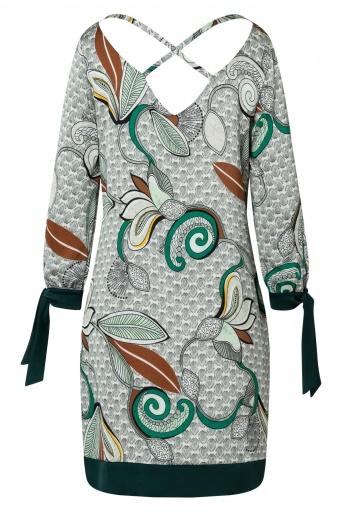 Ana Alcazar Ausschnitt Kleid Zesmy