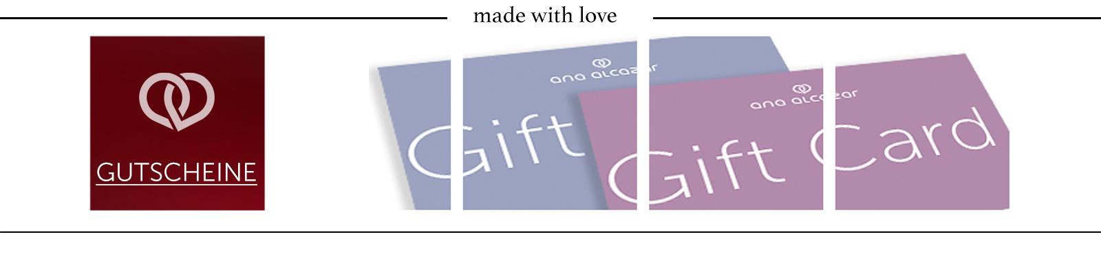 Stil schenken! Geschenkgutscheine von Ana Alcazar Geschenkgutscheine Geschenkgutscheine