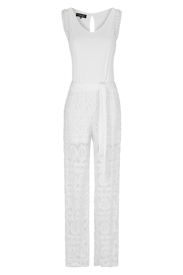 white lace jumpsuit ginnia ana alcazar. Black Bedroom Furniture Sets. Home Design Ideas