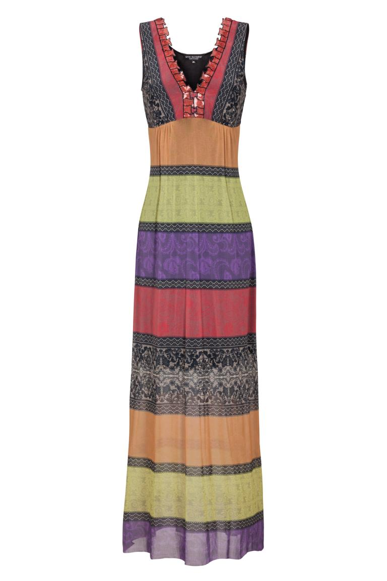 df802a12f0d Colourful Maxi Dress Flamencis with Deco