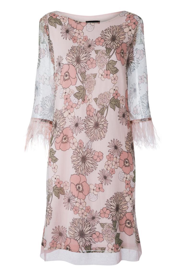 Ana Alcazar Feather Silk Dress Naris
