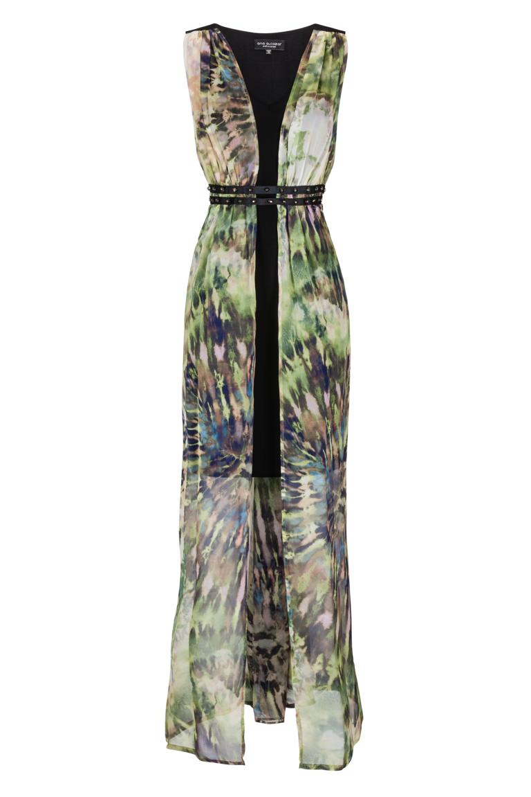 Ana Alcazar Silk Dress Mix Fayra