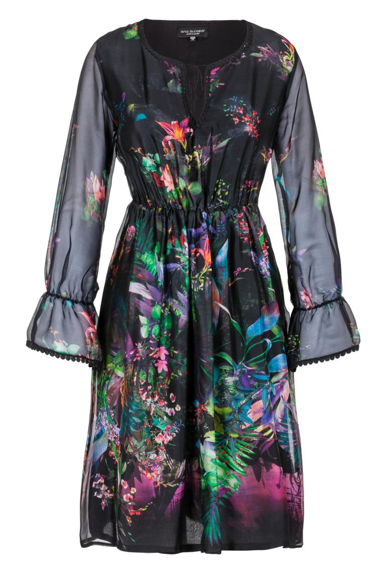 Ana Alcazar Festive Silk Dress Ginna