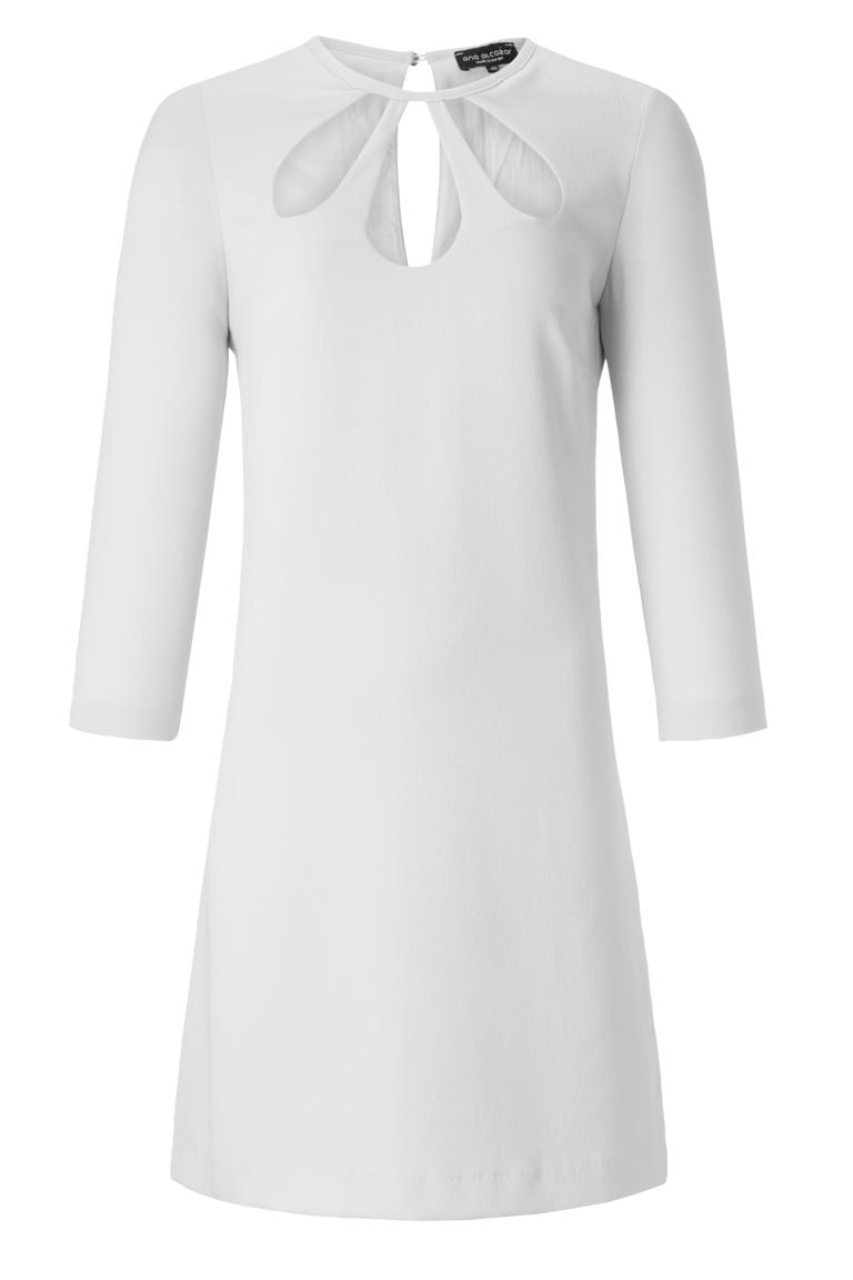 ana alcazar Cut Out Kleid Ansophes White